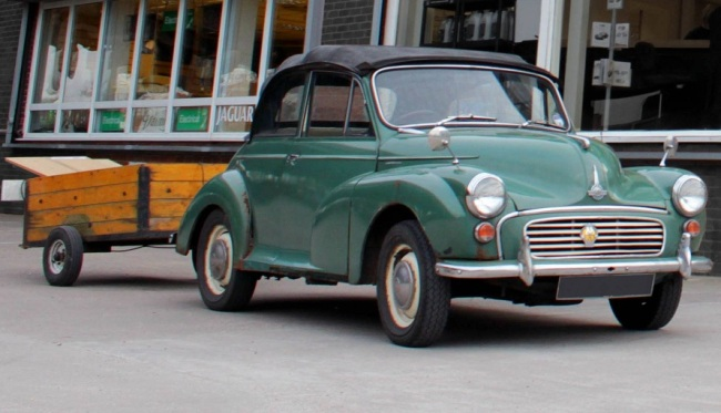 Morris Minor restored from David Manners Group Parts