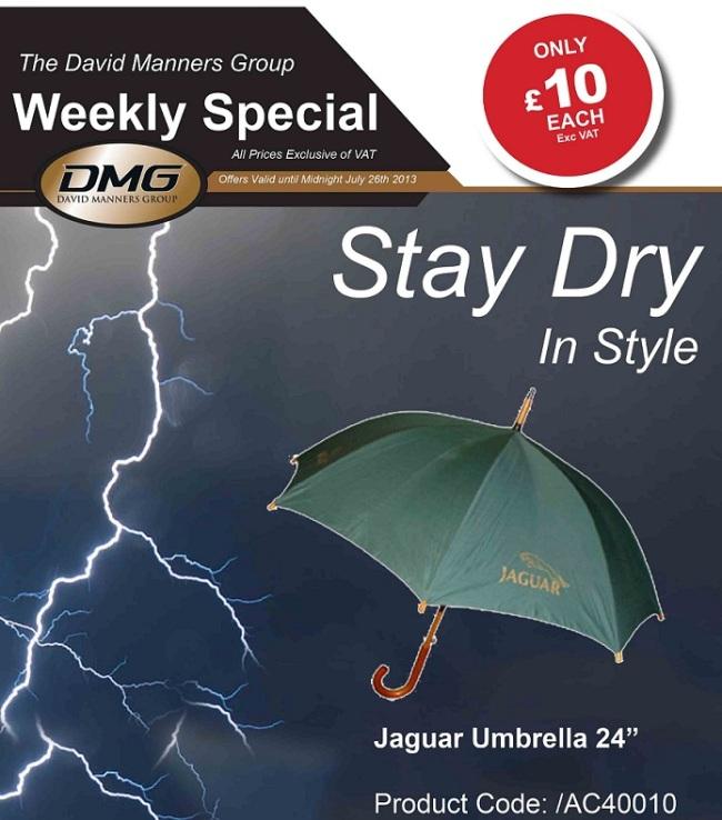 Jaguar Umbrella at the David Manners Group