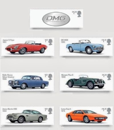 Classic Car Stamps Including Jaguar E-Type & MGB available now
