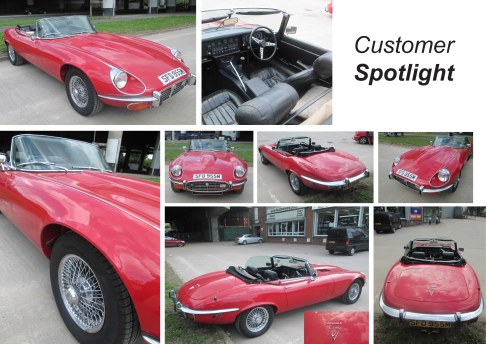 Jaguar E-Type MK3 at the David Manners group
