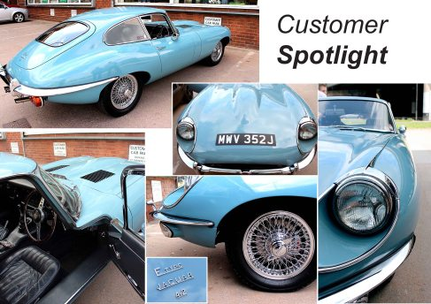 One of the last UK sold Jaguar E-type Cars