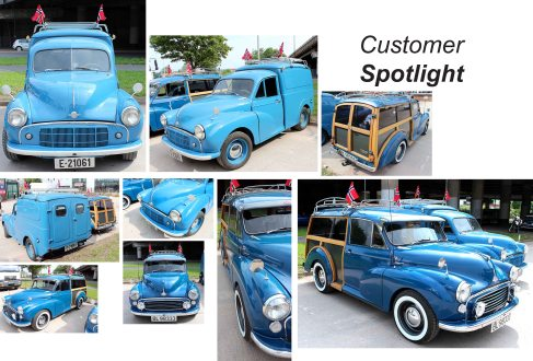 Morris Minor Traveller & Morris Minor Commercial at the David Manners Group