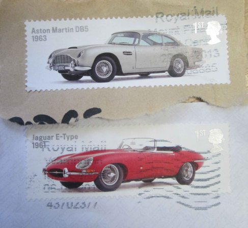 E-Type Jaguar & Aston Martin DB-5 Classic Car Stamps