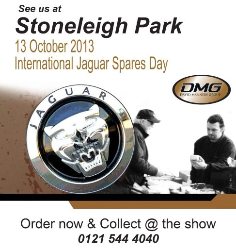 Order and Collect from DMG at the Stoneleigh Jagaur Show October 2013