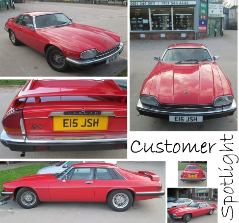 Red Jaguar XJS lights up the David Manners Group