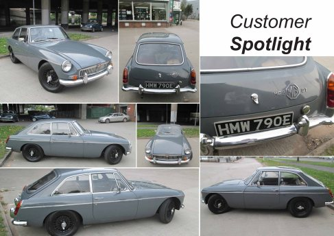 1967 MGB GT MK1 at the David Manners Group