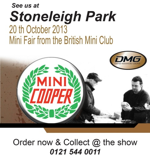 Order and Collect from DMG at the Mini Show October 2013