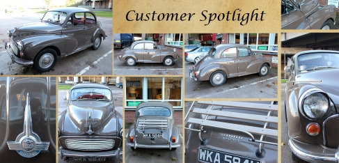 Newly acquired 1969 Morris Minor in A1 condition