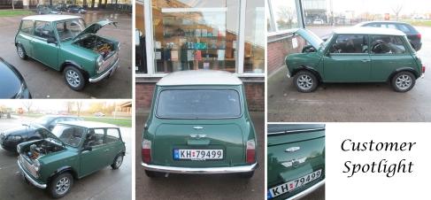 Norwegian Classic Mini en route to Classic Motor Show