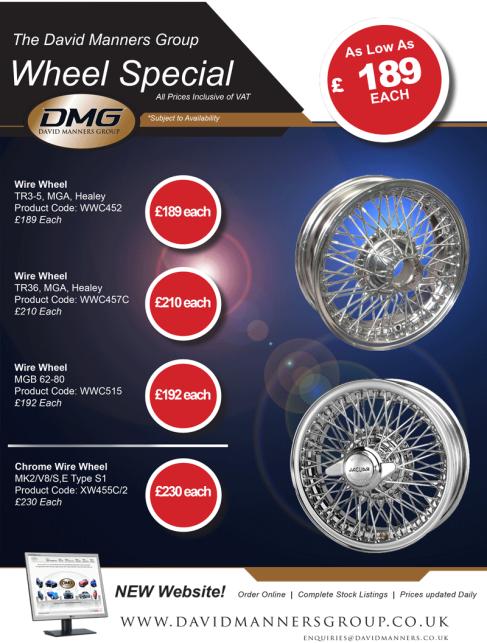 MG, Triumph and Jaguar Chrome Wire Wheels