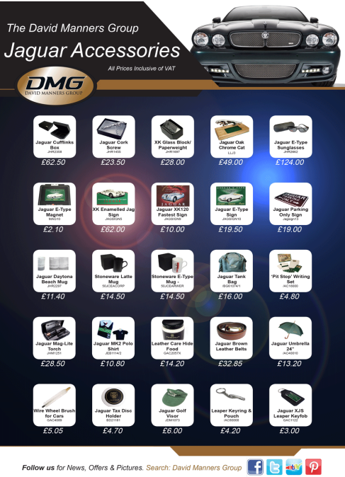 Jaguar Gifts ideal for Christmas