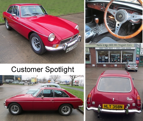 1974 MGB GT at the David Manners Group