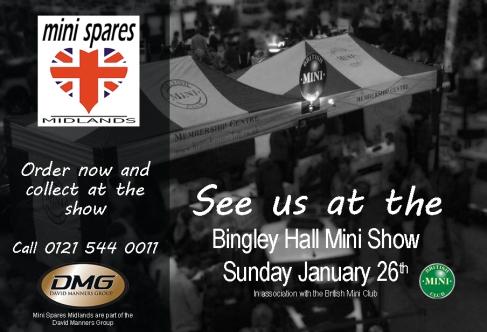 Mini Spares Midlands at the Bingley Hall Mini Show 2014