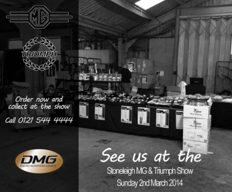 Order now and collect at the Stoneleigh MG & Triumph Show 2014