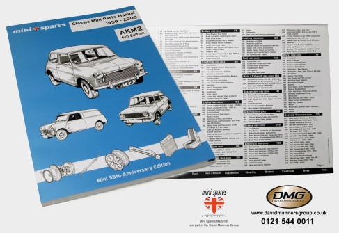 NEW Classic Mini Parts Manual 1959-2000