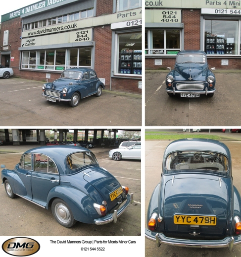 1969 Morris Minor 1000 at the David Manners Group