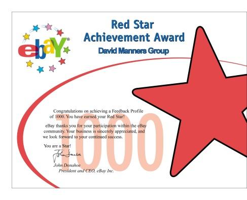 Ebay 1000 Red Star Rating