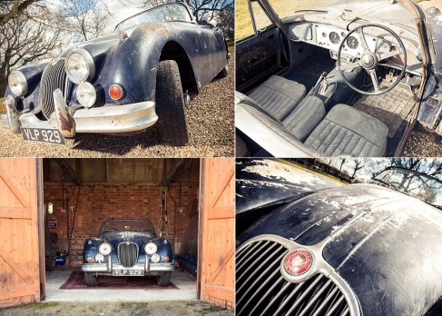 67th Jaguar XK150 built - uncovered in a barn
