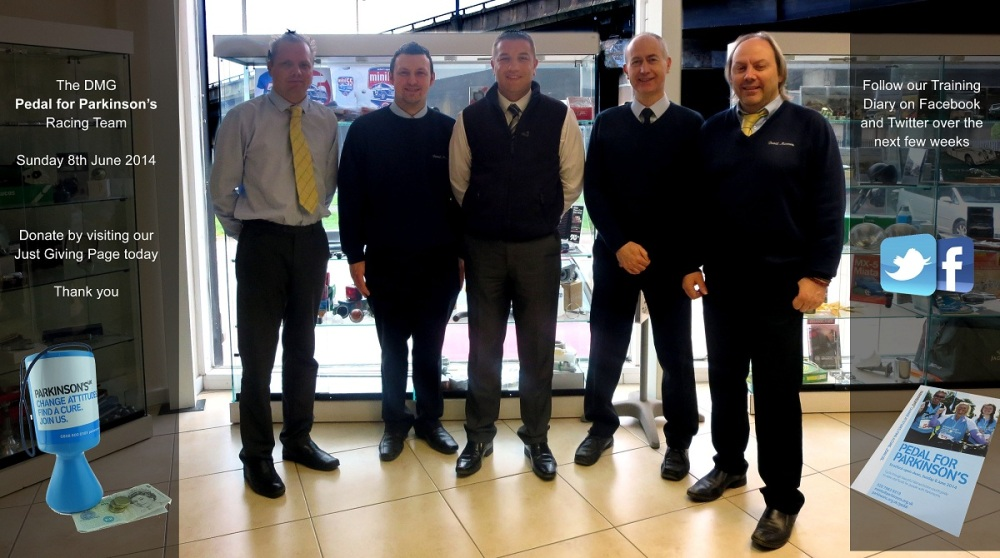 The DMG Elite team from L-R Paul Grainger, John Erra, Steve Travis, Stephen Brooker and David Woakes