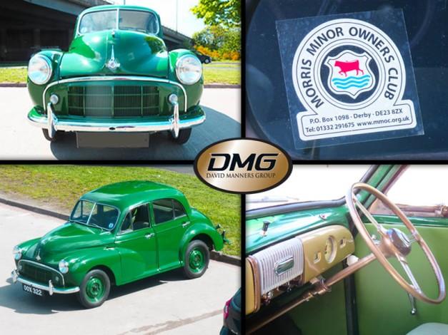 Green Morris Minor