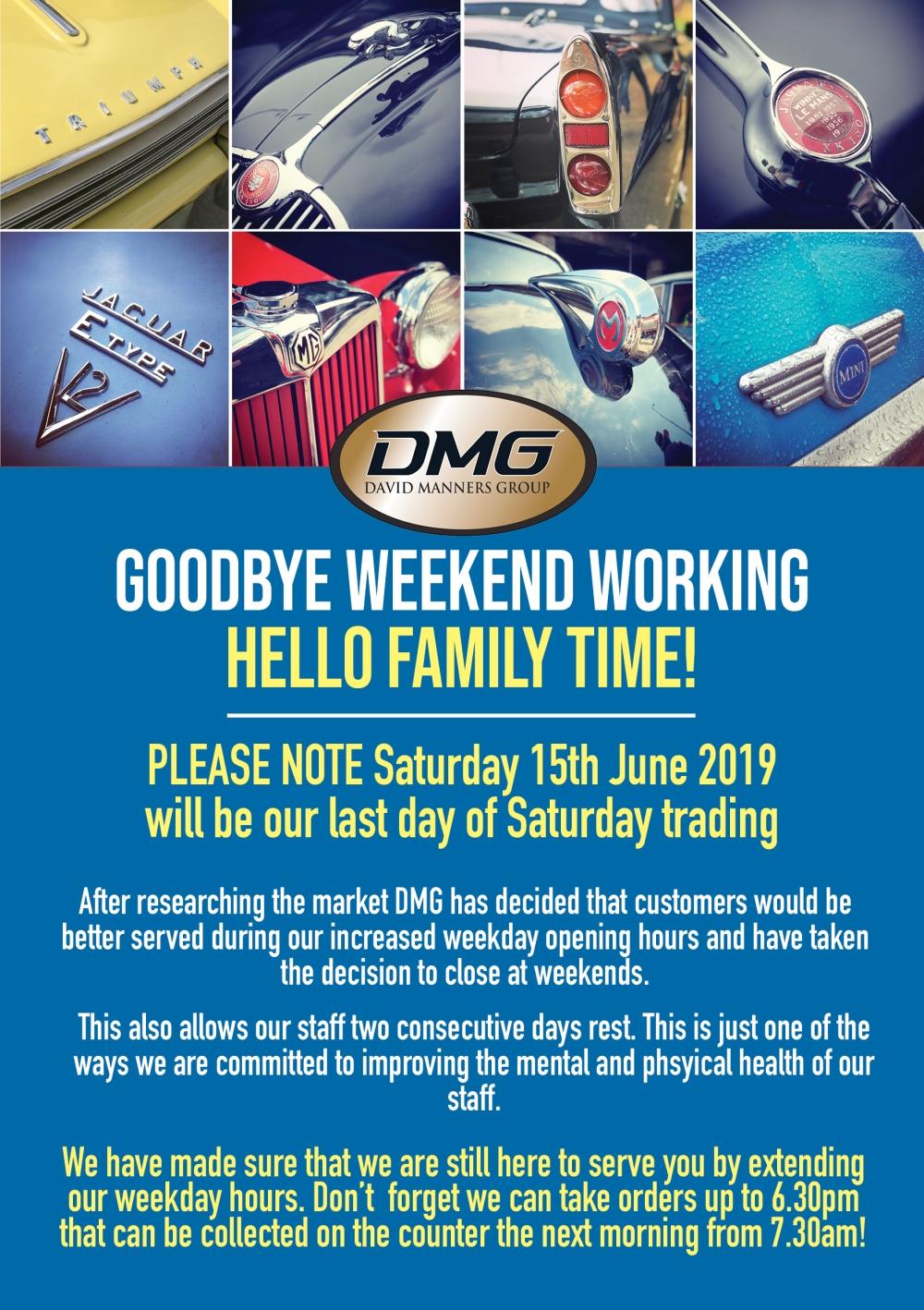 goodbye weekend working